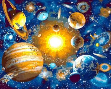 Картины по номерам Солнечная система