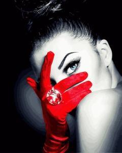 Картины по номерам Красная перчатка