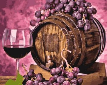 Картины по номерам Вино в дубовой бочке