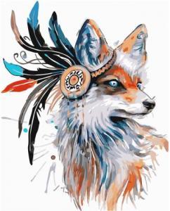 Картины по номерам Лис из племени