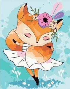 Картины по номерам Маленькая танцующая лиса