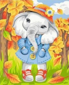 Картины по номерам Осенний слоник