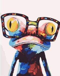 Картины по номерам Лягушонок в очках