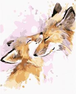 Картины по номерам Акварельные лисы