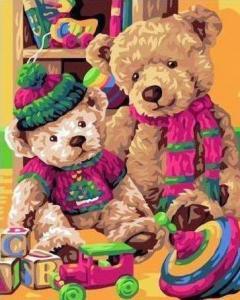 Картины по номерам Любимые игрушки