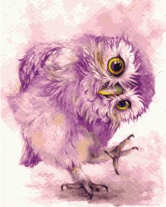 Картины по номерам Фиолетовая сова