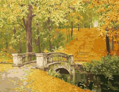 Картины по номерам Мост в осень