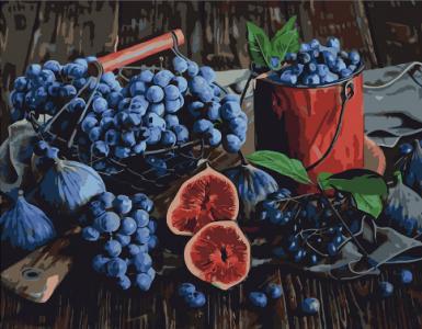 Картины по номерам Виноград и Инжир