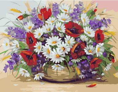 Картины по номерам Букет полевых цветов