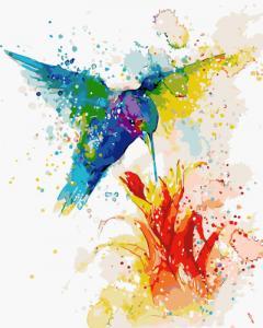 Картины по номерам Разноцветное колибри