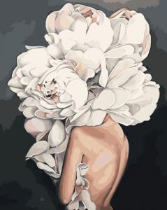 Картины по номерам Девушка-цветок