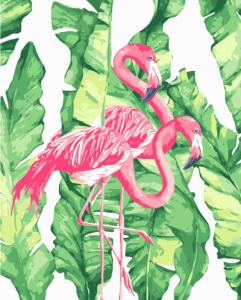 Картины по номерам Пара розовых фламинго