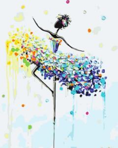 Картины по номерам Цветной балет