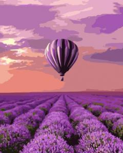 Картины по номерам Воздушный шар над лавандовым полем