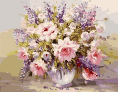 Картины по номерам Акварельный букет цветов