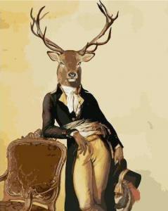 Картины по номерам Поп-арт: Олень-аристократ