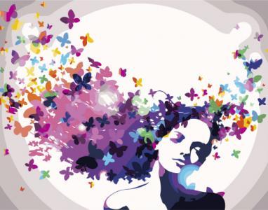 Картины по номерам Цветочные мысли