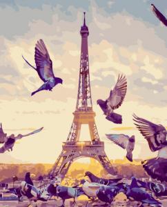 Картины по номерам Птицы у Эйфелевой башни