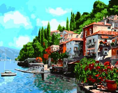 Картины по номерам Домики у воды