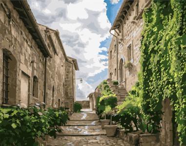 Картины по номерам Улица исторического района города