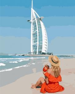 Картины по номерам Девушка в Дубае