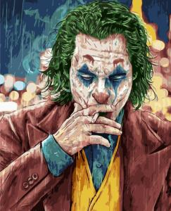 Картины по номерам Джокер под дождем