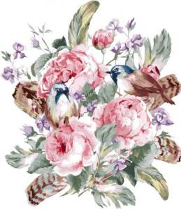 Картины по номерам Цветочная композиция на белом фоне