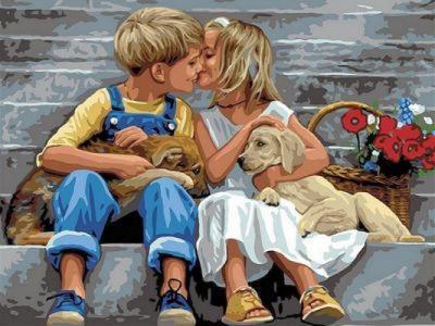 Картины по номерам Нежное свидание