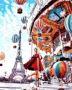 Картины по номерам Парижская карусель