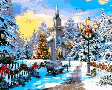 Картины по номерам Рождественское настроение. Доминик Дэвисон
