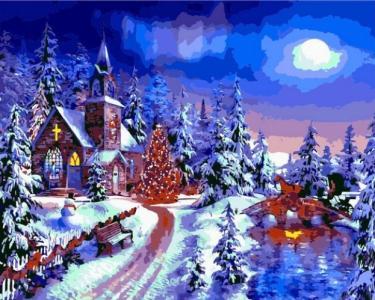 Картины по номерам Новогодняя ночь. Доминик Дэвисон