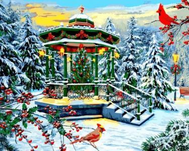 Картины по номерам Рождественская беседка. Доминик Дэвисон