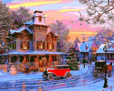 Картины по номерам Праздничный городок