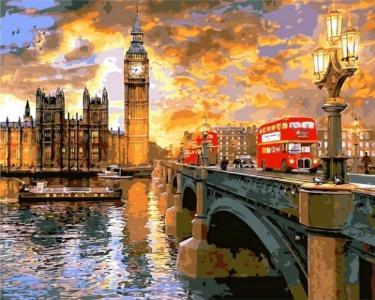 Картины по номерам Вестминстерский закат. Доминик Дэвисон