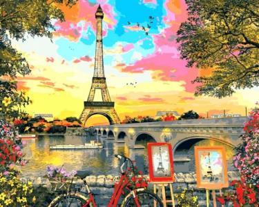 Картины по номерам Закат в Париже. Доминик Дэвисон