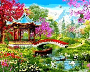 Картины по номерам Японский стиль. Доминик Дэвисон
