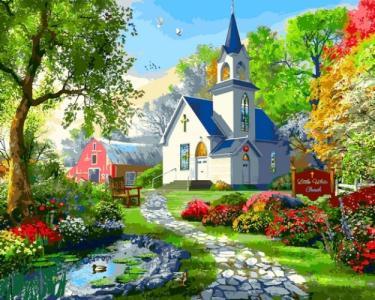 Картины по номерам Маленькая Белая Церковь. Доминик Дэвисон