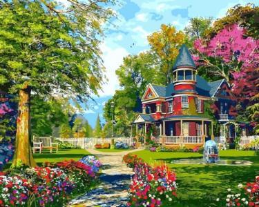 Картины по номерам Уютная дача. Доминик Дэвисон