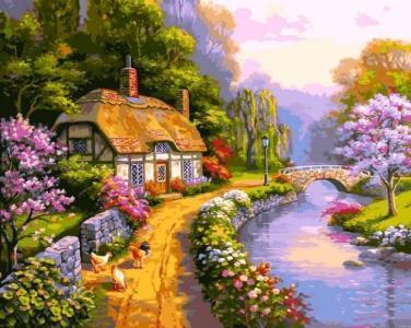 Картины по номерам Сельский домик
