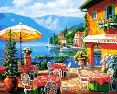 Картины по номерам Кафе на озере