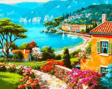 Картины по номерам Вид на берег