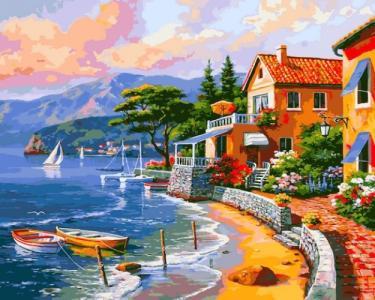 Картины по номерам Дом на берегу