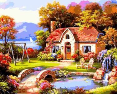 Картины по номерам Сказочный домик