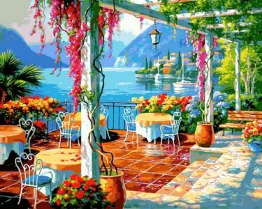 Картины по номерам Кафе на берегу