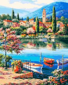 Картины по номерам Город у моря