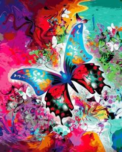 Картины по номерам Бабочка в красках
