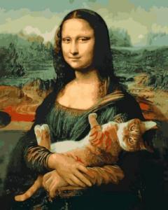 Картины по номерам Мона Лиза и кот