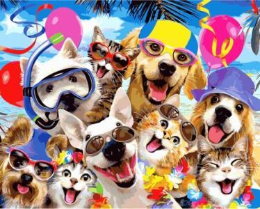 Пляжная селфи-вечеринка