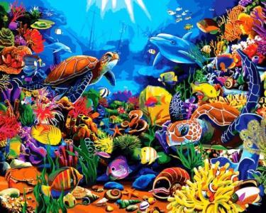 Картины по номерам Красота моря