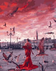 Картины по номерам Закат на набережной
